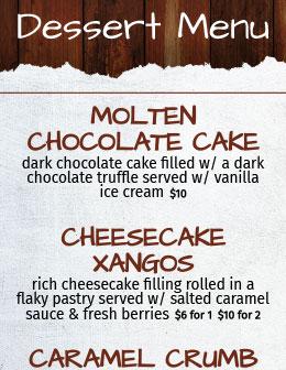 Lakeside Grille Dessert Menu
